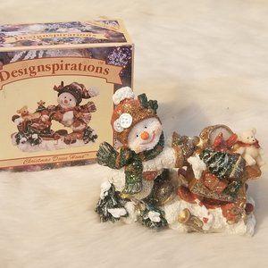 Designspirations Ceramic Snowman Figurine Boxed
